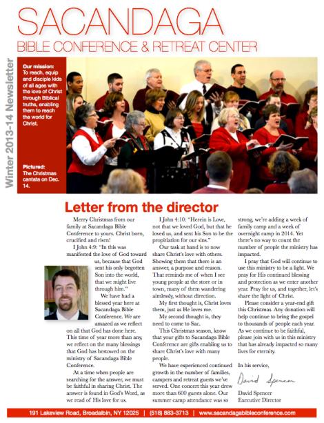 December 2013 newsletter 1